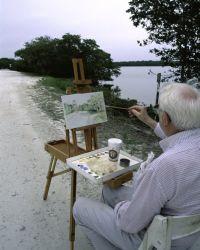 Painting at Ding Darling NWR Photo