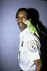 FWS Employee with Parrot Photo