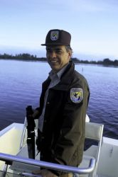 FWS Employee Patrols Pelican Island NWR Photo