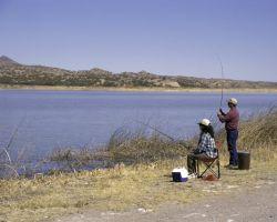 Fishing at Bosque del Apache NWR Photo
