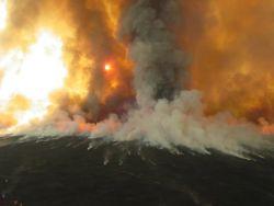 r8-ca-lkr-smoke rises from prescribed burn Photo