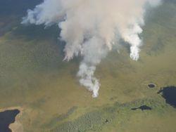 r7-ak-ter-wildfire aerial view of smoke Photo