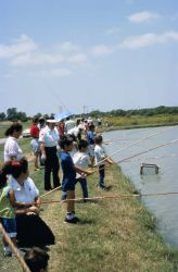 WO 4718 Fishing at Uvalde National Fish Hatchery Photo