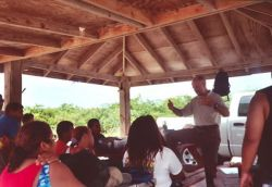 YCC workers are encouraged by Manager Oscar Diaz to consider careers in wildlife management at Vieques NWR Photo