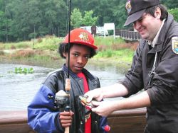 Youth enjoy fishing opportunities provided by FWS at Patuxent Wildlife Research Refuge Photo
