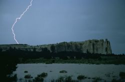 WO8064 Flood at EL Morro Nat'l Monument Photo