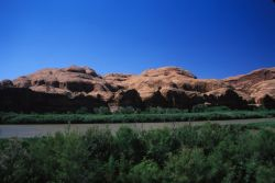 Colorado River and Rock Formations Photo
