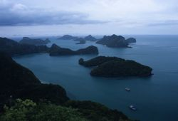 An aerial view of Mu Ko Ang Thong (Marine) National Park Photo