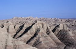 Stratified Rock and Rugged Terrain Photo
