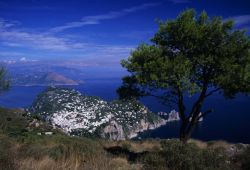 Landscape view of Capri Island Photo