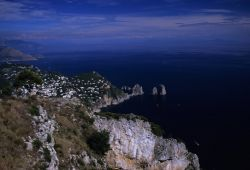 Aerial view of Capri Island Photo