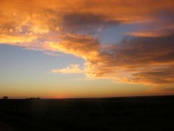 Sunset over rangeland in southern Paraguay Photo