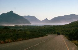 South Africa Coastline and Mountains Photo