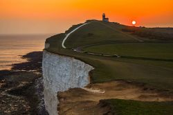 Beachy Head Lighthouse Near Seven Sisters Photo