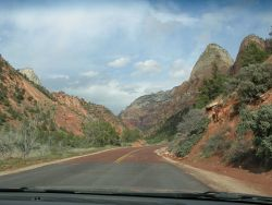 The road to Zion National Park Photo