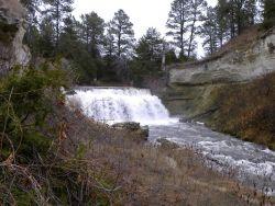 Snake River Falls south of Valentine, Nebraska. Photo