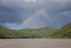 A scene along the Yukon River between the Dalton Highway and Ruby Photo