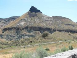 Sheep Mountain standing 1,100 feet above the John Day Fossil Beds National Monument. Photo
