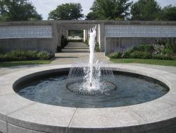 A fountain in the Columbarium of Arlington National Cemetery. Photo