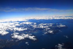 Glacier Bay from a commercial aircraft on its way to Anchorage Photo