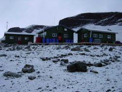 A base camp for observing penguins and marine mammals as well as other scientific observations. Photo