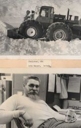 Mechanic Chedister operating a snow plow Photo