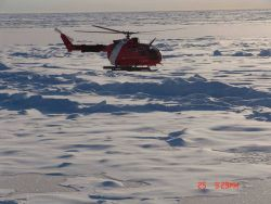 Helicopter from the Canadian Coast Garde icebreaker LOUIS S Photo