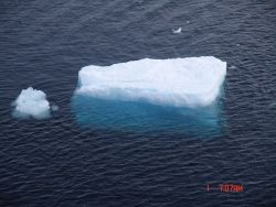 Large ice cube in open water Photo