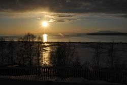 Anchorage sunset with Mt Photo