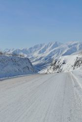 A scene along the Dalton Highway in the Brooks Range. Image