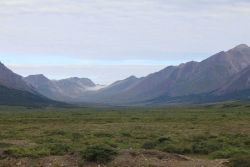 A valley in the Kigluiak Mountains on the Seward Peninsula. Image