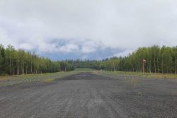 Airstrip near Hope and Turnagain Arm. Image