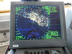Radar display of pack ice about 90 nautical miles west of Point Barrow. Photo