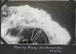 A mooring buoy in San Bernardino Straits when the current was running hard. Image