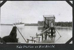 The tide station at Biri Biri. Photo
