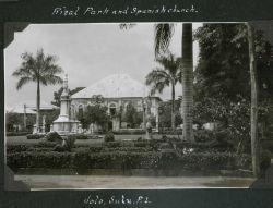 Rizal Park and Spanish Church at Jolo. Photo