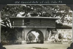 The old Spanish Gate at Jolo. Photo