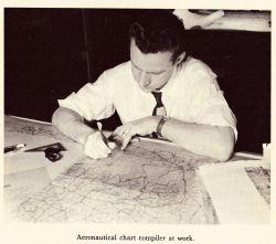 Aeronautical chart compiler at work Image