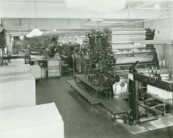 A view of the Harris presses in the reproduction plant of the Coast and Geodetic Survey Image