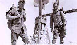 Lieutenants Charles Pierce and William Tucker at Station Pico Blanco. Photo
