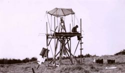 A triangulation station just south of Hearst Castle. Image