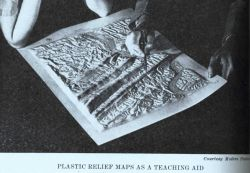 A plastic relief model made by a Braund Reliefograph developed by John Braund of the Coast and Geodetic Survey Image