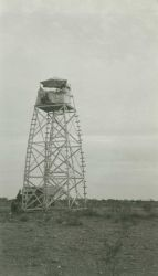 An unidentified triangulation station with tower, possibly in Arizona. Image