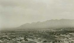 West end of Santa Catalina Mountains as seen from Tucson. Photo
