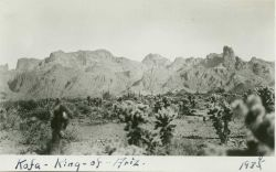 On the way to station Kofa (acronym for King of Arizona Mine). Photo
