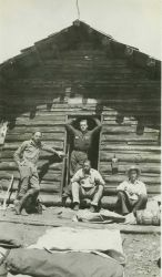 The ranger station where the observing crew stayed overnight after observing Station Mogollon. Photo