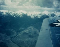 Reconnaissance photo of the Salmon River country as taken from cooperating Army Air Forces aircraft. Photo