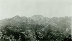 A panoramic view of the Ventana Range. Image