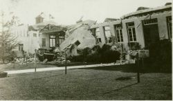 A scene in Long Beach the morning after the devastating 1933 earthquake. Image