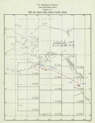 Chartlet showing track of PATHFINDER from Aleutians to West Coast at end of 1947 field season Photo